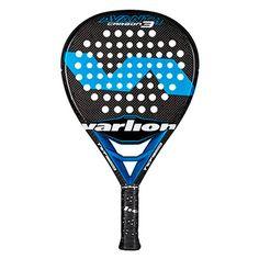Pala de padel Varlion Avant Hexagon Carbon 3 2016 color negra con logo en azul y marca en blanco