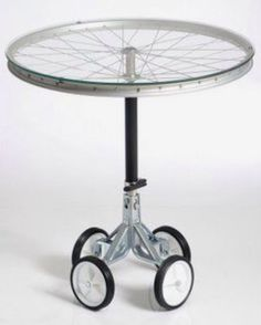 Funny Bike Wheel Table With Wheels