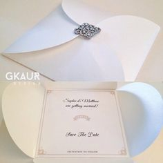 Fold out card invitation #wedding #party #engagement #christening #function #invitation #invitations #colours #white #ivory #gold #black #foldout #embellishment #silver #diamond #elegant #savethedate #handmade #weddingplanner #partyplanner #eventplanner #inserts #rsvp #type #font #graphics #creative #gkaurdesign