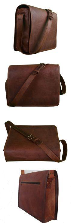 Backpacks Bags and Briefcases 52357: Handmade Men S Genuine Leather Shoulder Messenger Bag Vintage Satchel Briefcase -> BUY IT NOW ONLY: $59 on eBay!