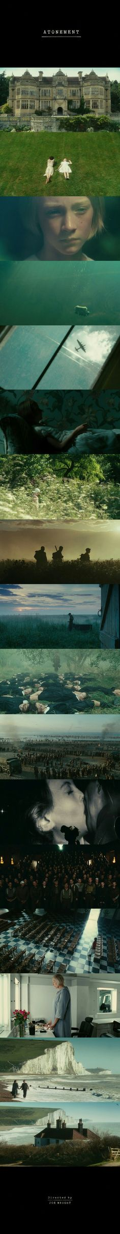 Atonement (2007) Directed by Joe Wright. Cinematography by Seamus McGarvey.