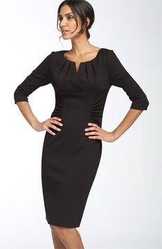 Adrianna Papell Ruched Matte Jersey Sheath Dress available at #Nordstrom. Have this one - love it :)