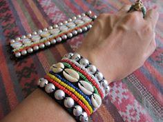 Items similar to Akha Bracelet / Hippie / Boho / Tribal / Ethnic / Traditional/Whole Sale on Etsy Hippie Jewelry, Tribal Jewelry, Hippie Boho, Navratri Dress, Garba Dress, Thread Bangles, Handmade Jewelry Designs, Fabric Jewelry, Bracelet Tutorial