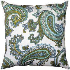 Pillow decor - tuscany linen forest paisley throw pillow - contemporary - decorative pillows - by pillow decor ltd.