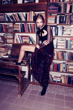 Anna Selezneva goes goth in For Love & Lemons Fall 2013 campaign