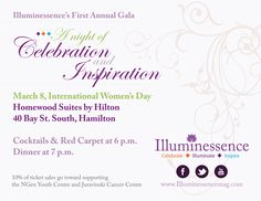 The Illuminessence team is pleased to share the sponsorship rates and details of the upcoming night of celebration on March 8 as well as the Media Kit outlining the online advertising for you. Visit http://illuminessencemag.com/illuminessence-gala.../ we graciously request that you share this message with others.