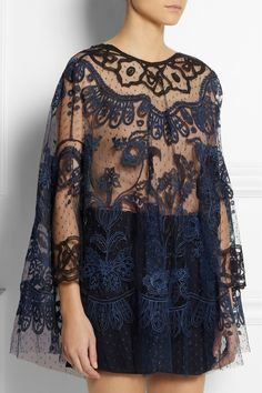Biyan|Soleil reversible embroidered tulle top|NET-A-PORTER.COM