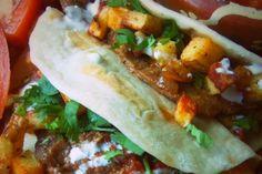 Steak Ranchero and Potato Tacos