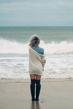 winter beach, photoshoot ideas, portrait, girl