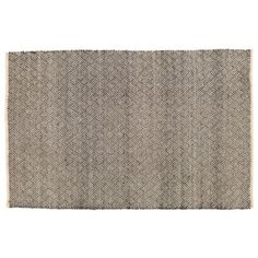 graphic pattern and gray/white color make this rug so versatile. Check Mix Wool Rug  | The Land of Nod