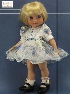 "NYLON HANKY DOLL DRESS FITS 10"" TONNER ANN ESTELLE PATSY SOPHIE HANKIE COUTURE"