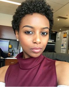 Top 7 TWA Styles You Should Try Today are the perfect hairstyles for those who feel stuck in their TWA stage after cutting their hair Natural Hair Short Cuts, Tapered Natural Hair, Short Hair Cuts, Natural Hair Styles, Twa Natural Hairstyles, Short Twa Hairstyles, Wedding Hairstyles, Twa Styles, Natural Hair Inspiration