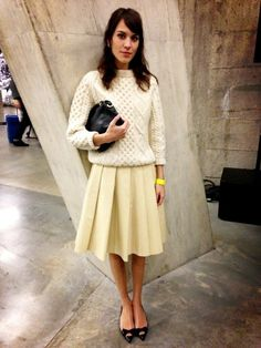 Alexa Chung / February 18, 2013 Where: At the J.W. Anderson fall 2013 show in London, England.