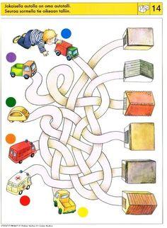 Piccolo: blokken 2 kaart 14 Preschool Worksheets, Preschool Activities, Mickey Coloring Pages, Montessori Art, Infant Activities, Maze, Kids Learning, Kindergarten, Kids Rugs