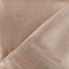 Tissu Lino lin cuivre métallisé x 10cm