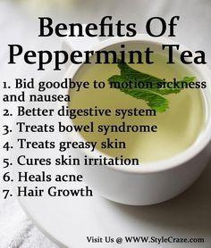 Benefits Of Peppermint Tea Follow us @ http://pint