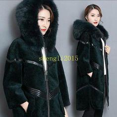Warm fur Zip Hooded Women Coat Winter trench Parka Long Jacket Outwear fashion # | eBay