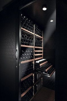 Gorgeous black wine cellar design t's ended up an additional wine-filled twelve months for the Caves, Wine Cellar Basement, Home Wine Cellars, Wine Cellar Design, Wine House, Muebles Living, Wine Display, Wine Wall, Wine Cabinets