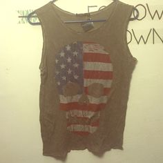 Flag tank nwt super soft brandy melville muscle tank with awesome