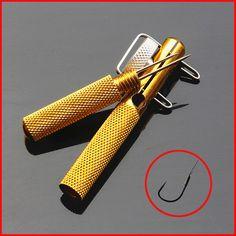 1 개 전체 금속 낚시 후크 매듭 도구 및 넥타이 후크 루프 만드는 장치 및 후크 디커플링 리무버 잉어 낚시 액세서리