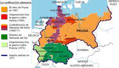 Mapa de la unificación de Alemania 1871
