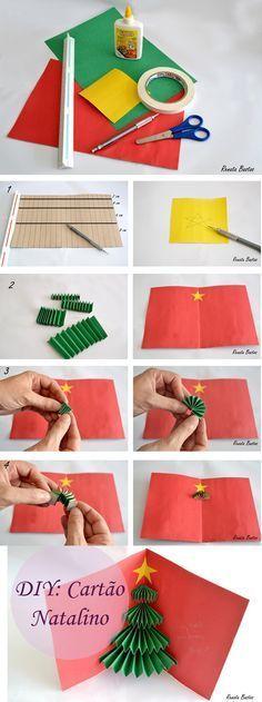 DIY: Cartão de Natal - Christmas Card