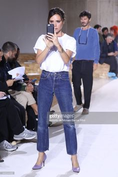 Victoria Beckham attends Victoria Beckham show during New York Fashion Week on September 10, 2017 in New York City.