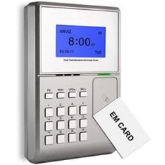 Time Vision clocking in system is an uncompromising yet cost effective solution to time management. Employees clock in and out by simply holding their proximity card or fob in front of the clocking terminal.