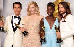 3/17/14  2:37p  The Academy Awards Ceremony 2014:  The  Oscar Family's  New Members:   Matthew McConaughey,  Cate Blanchett, Lupita Nyong'o, Jared Leto.  3/21/14 1:47p
