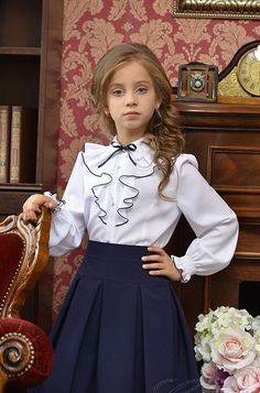 Baby Girl Party Dresses, Dresses Kids Girl, Baby Dress, Kids Outfits, Spanish Baby Clothes, Girls Blouse, Tween Fashion, Preppy Style, Kind Mode