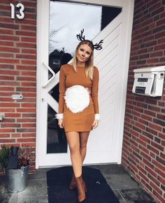Haz tu propio disfraz de ciervo - Inspiración y accesorios: disfraces de ciervo para mujer para carnaval, Halloween y carnaval - Deer Costume Diy, Reindeer Costume, Diy Costumes, Costumes For Women, Costume Ideas, Party Outfit For Teen Girls, My First Halloween, Carnival Outfits, Diy