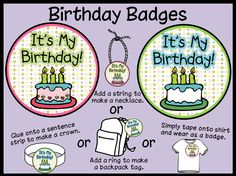 link to a birthday badge