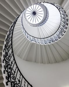 The famous Tulip Staircase in the Queen's House, Greenwich, London #london