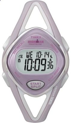Timex Women's T5K027 Ironman Sleek Sport Watch with Two-Tone Band. Go to the website to read more description.