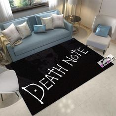 Anime Rug, Death Note Plain Design Carpet  https://www.animeprinthouse.com/collections/anime-carpet-anime-rug   #death #note #anime #rug #merchandise #carpet #bedroomideas #homedecor #kidsroom #giftideas #otaku #products #carpet