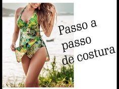 ❁ maiô que vira saída de praia❁ - YouTube Parte Superior Del Bikini, Dress Form, Casual Looks, Bikinis, Swimwear, Tankini, Ideias Fashion, Underwear, One Piece