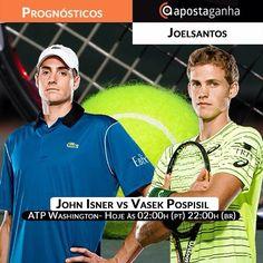 Grandes jogos na noitada de #tenis. Nosso top #tipster Joel Santos traz um #prognóstico exclusivo, não percam:  http://www.apostaganha.pt/2015/08/06/prognostico-apostas-vasek-pospisil-vs-john-isner-washington/  #isner #atp #tennis #apostas #ATPWashington #vasekpospisil #johnisner #apostaganha #sportsbetting #bets #gambling #gamesetmatch