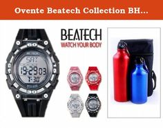 Ovente Beatech Collection BH5000B Heart Rate Monitor Watch and Finelife Camping Bottle Set. Watch. Heartbeat rate measurement function: Display dynamic pulse rate. Perpetual Calendar function: Year value display ranges from 2000 to 2099 default value is January 1st 2009; 12/24-hour time format selectable default value is 12-hour format. Alarm clock function: Triple alarm clock with alarm tone. Alarm sound duration is 60 seconds. Hourly chime function: Select to turn on/turn off this...