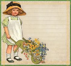 """""""It often happens to children and sometimes to gardeners that they are given gifts of value of which they do not perceive until much late. Graphics Fairy, Free Graphics, Catherine Klein, Bush Plant, Pretty Images, Children Images, Sweet Girls, Beautiful Children, Lilac"""