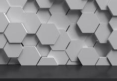 White hexagons 3D