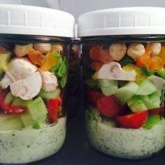 Salads to Go and two great dressings - Ensaladas para llevar y dos aderezos deliciosos