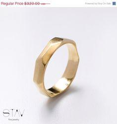Wedding ring, gold ring, 14k gold 296 USD