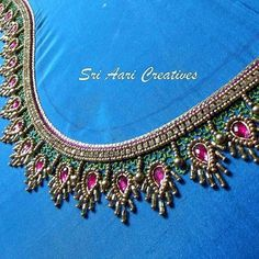 Our Sri Aari Creatives student's work . # aari, # aariwork, # Aariclasseschennai, # a … Patch Work Blouse Designs, Kids Blouse Designs, Hand Work Blouse Design, Maggam Work Designs, Simple Blouse Designs, Blouse Designs Silk, Designer Blouse Patterns, Hand Designs, Wedding Saree Blouse Designs