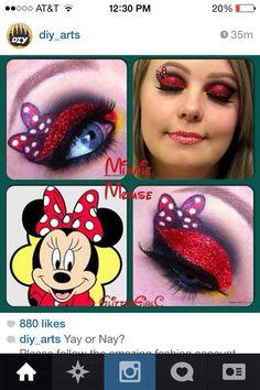 Eye make up, Minnie Mouse