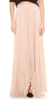 { alice + olivia norris pleated sunburst maxi skirt }