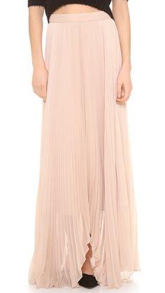 alice + olivia Norris Pleated Sunburst Maxi Skirt