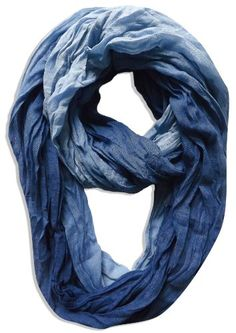Stylish & Trendy Lightweight Crinkled Faded Tie Dye Scarf & Infinity Loop Scarf $9.95 (save $20.00)