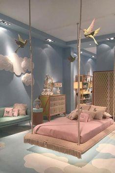 Cute Bedroom Design Ideas For Kids And Playful Spirits teenager zimmer mädchen schmetterlinge wand deko Cute Bedroom Ideas, Girl Bedroom Designs, Awesome Bedrooms, Bedroom Themes, Bed Designs, Bedroom Ideas For Small Rooms For Girls, Girls Bedroom Furniture, Girs Bedroom Ideas, Kids Furniture