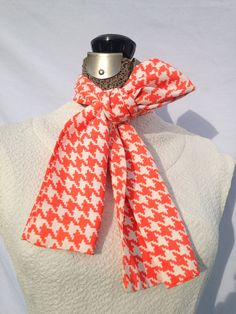 Vintage 1960s Scarf, 60s Scarf, Pinky Orange and White Scarf on Etsy, $8.00