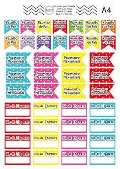 Adesivos para Planners A4 | Planners Stickers | Volta às Aulas | Back – Happy Digital Paper